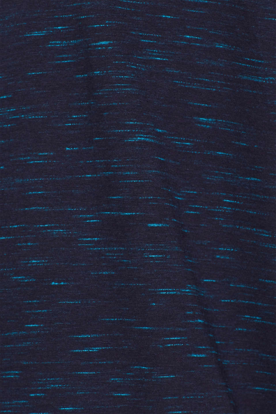 Slub jersey shirt in blended cotton, NAVY, detail image number 4