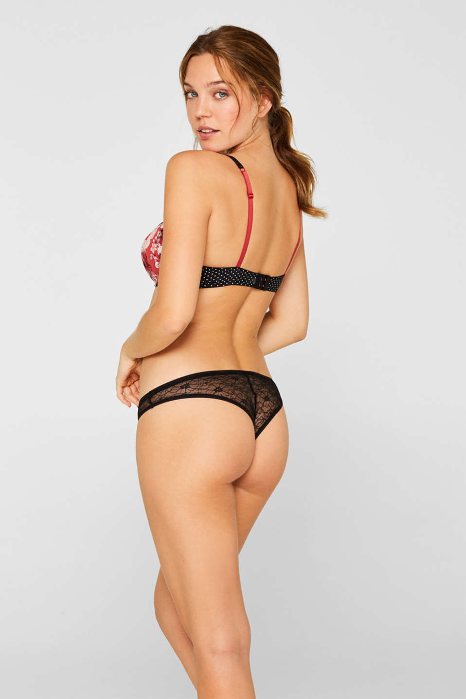 Bottoms, CORAL RED, detail image number 2