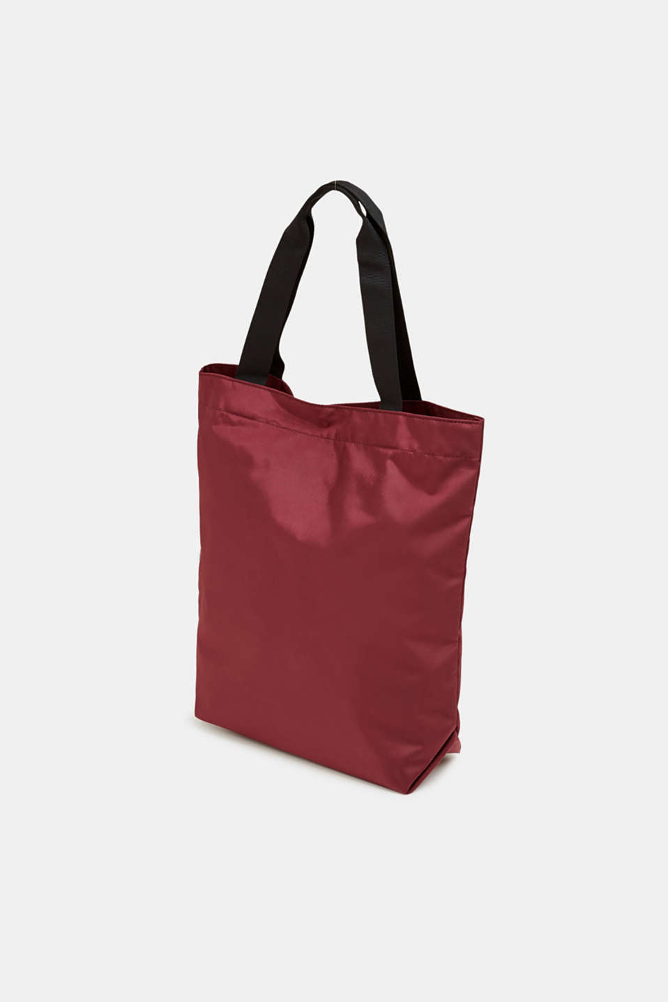 Nylon shopper with a logo print, BORDEAUX RED, detail image number 5