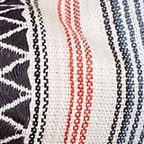 XXL jacquard scarf with a tribal pattern, ANTHRACITE, swatch