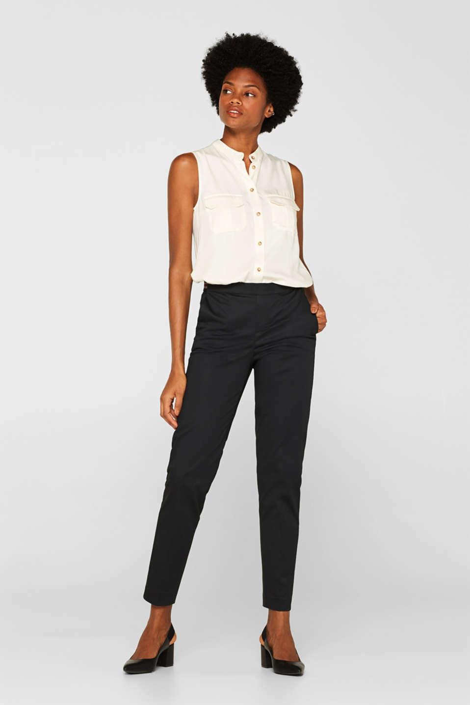 Pants woven, BLACK, detail image number 0
