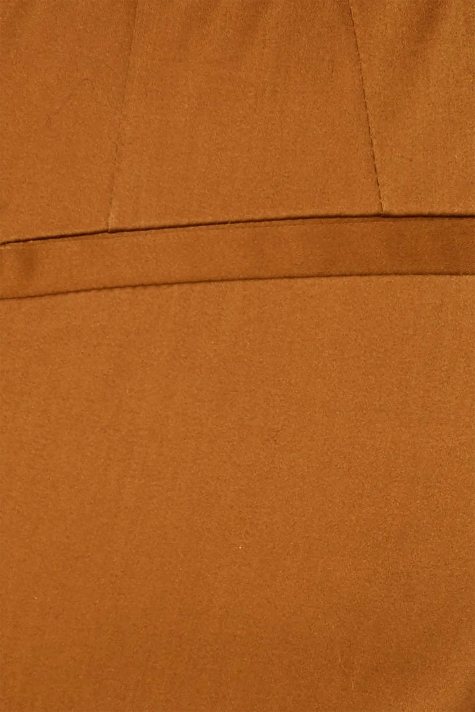 Stretch trousers with striped elasticated waistband, TOFFEE, detail image number 4