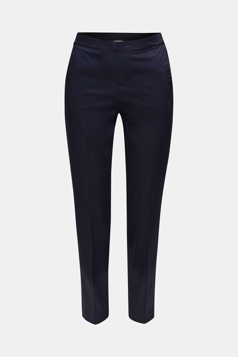 Stretch trousers with striped elasticated waistband, NAVY, detail image number 6