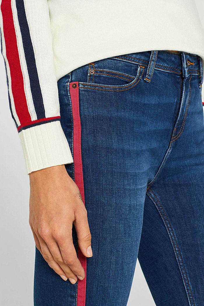 Stretch-Jeans mit Racing-Streifen, BLUE MEDIUM WASHED, detail image number 2