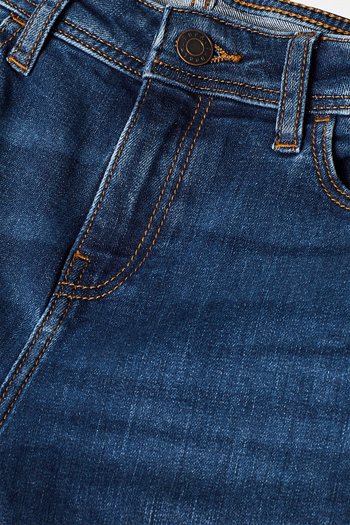Stretch-Jeans mit Racing-Streifen, BLUE MEDIUM WASHED, detail image number 4