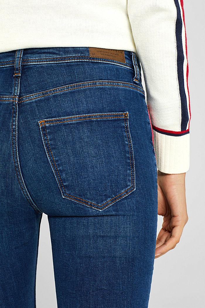 Stretch-Jeans mit Racing-Streifen, BLUE MEDIUM WASHED, detail image number 5