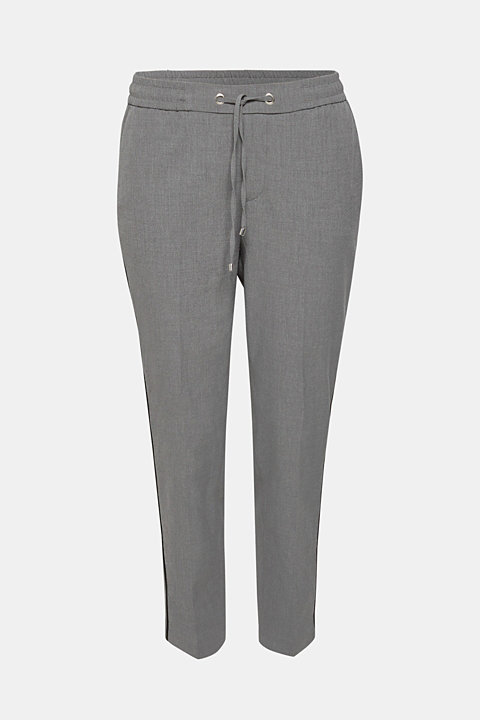 Piped tracksuit bottoms with stretch for comfort