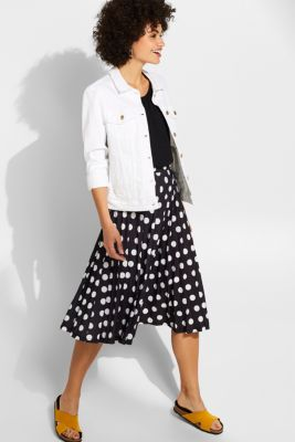 Pleated midi skirt with a print, BLACK 2, detail