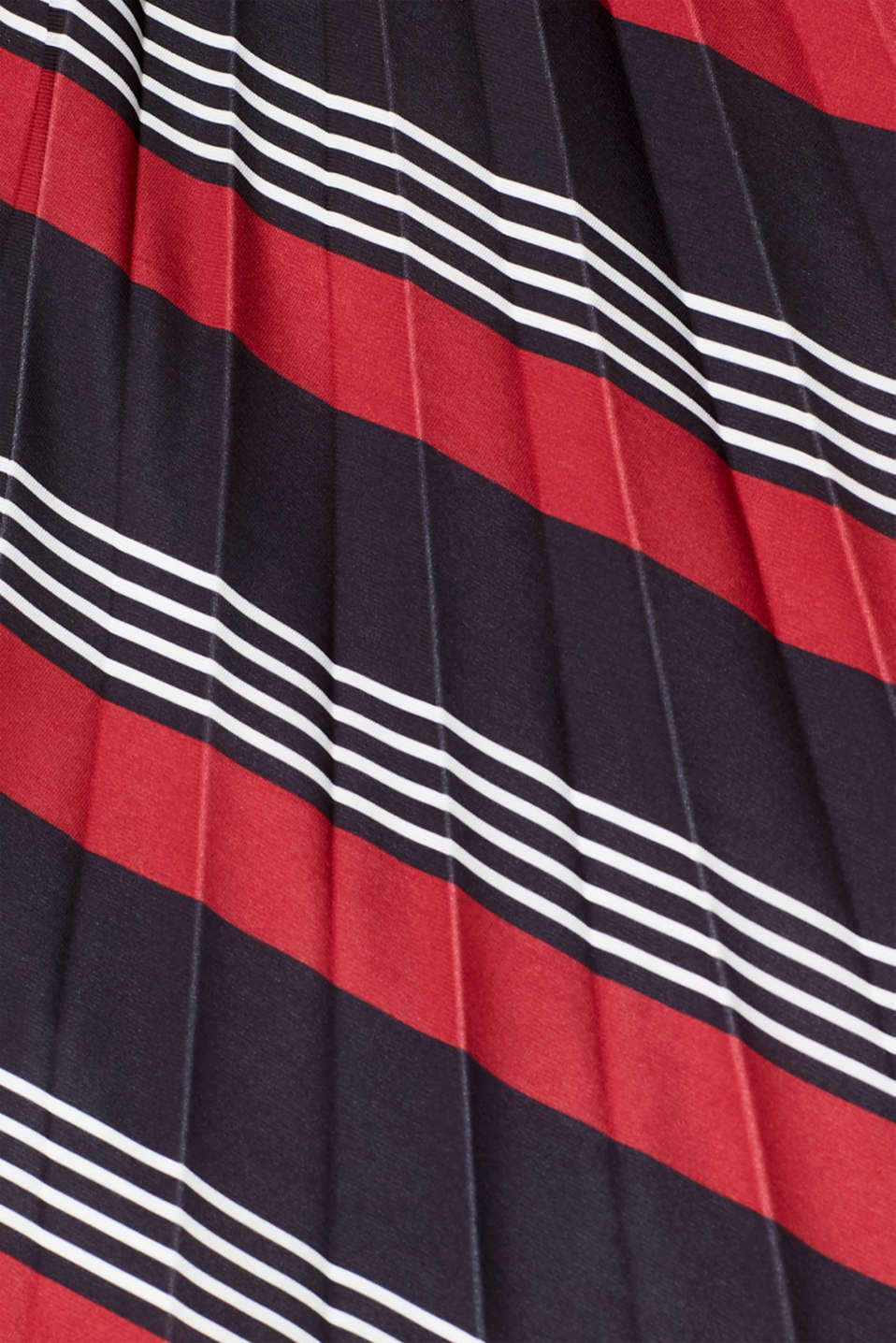 Pleated midi skirt with a print, BLACK 3, detail image number 4