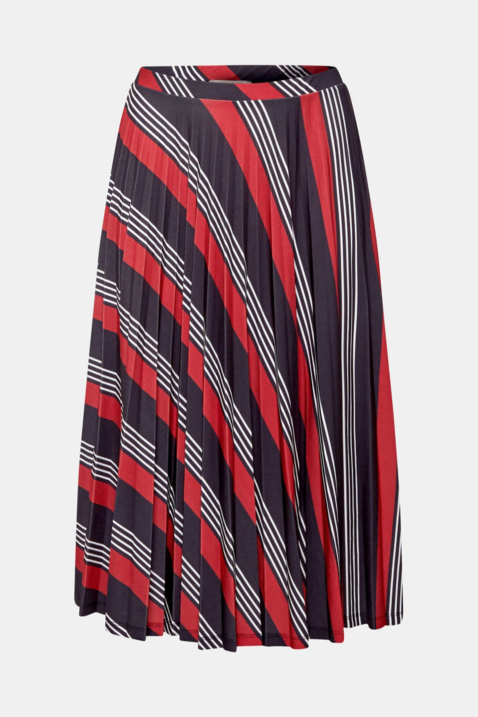 Pleated midi skirt with a print, BLACK 3, detail image number 6