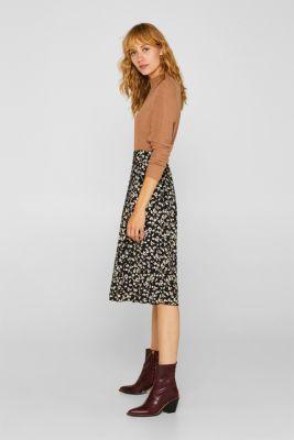 Midi skirt with a tie-around belt, ANTHRACITE, detail