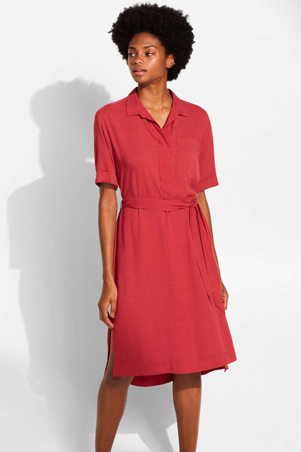 Dresses light woven, DARK RED, detail image number 0