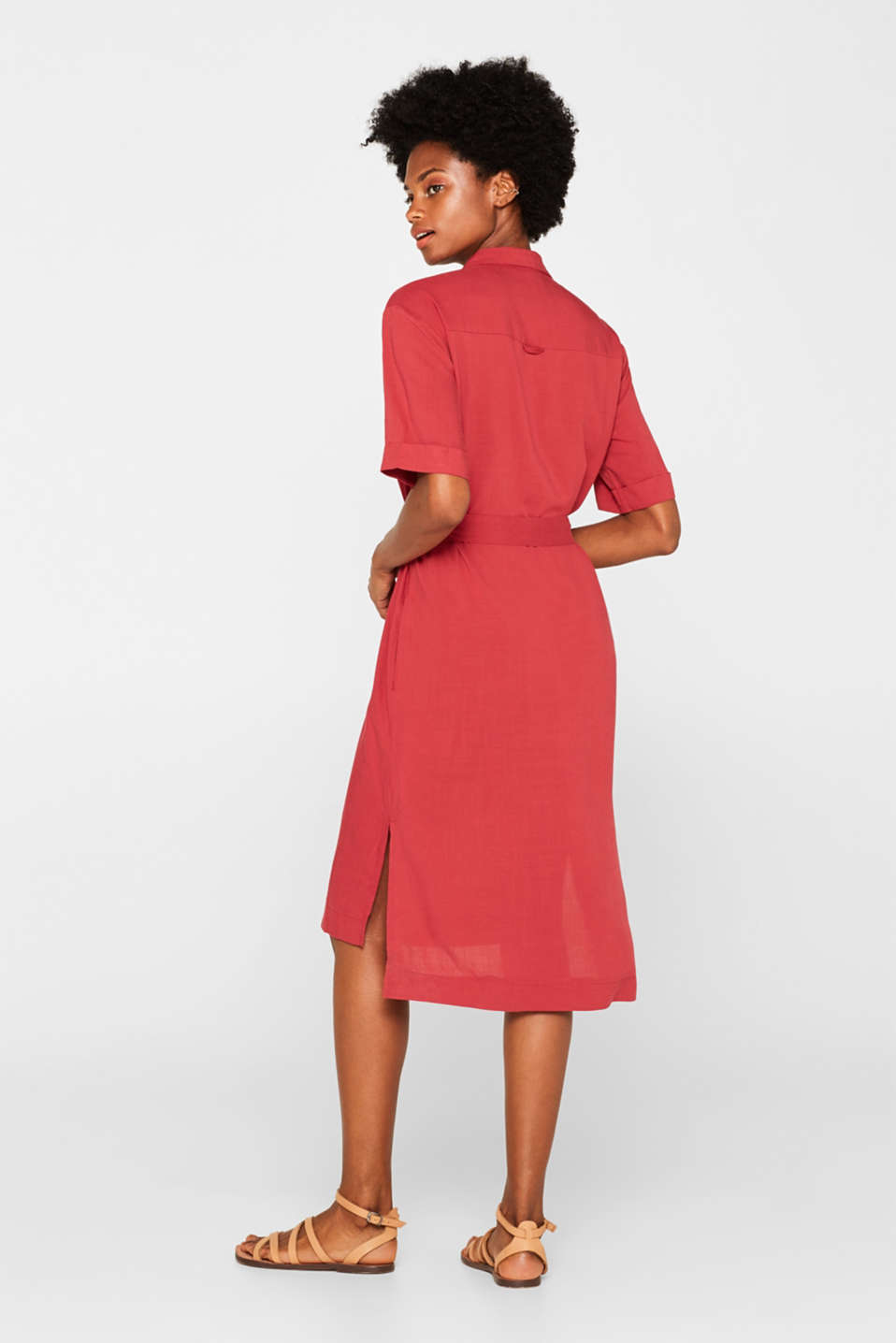 Dresses light woven, DARK RED, detail image number 2