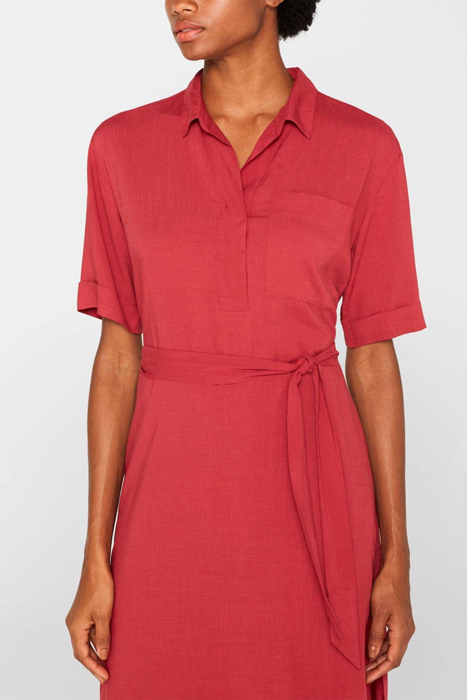 Dresses light woven, DARK RED, detail image number 3