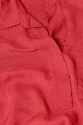 Linen blend: shirt dress with a tie-around belt