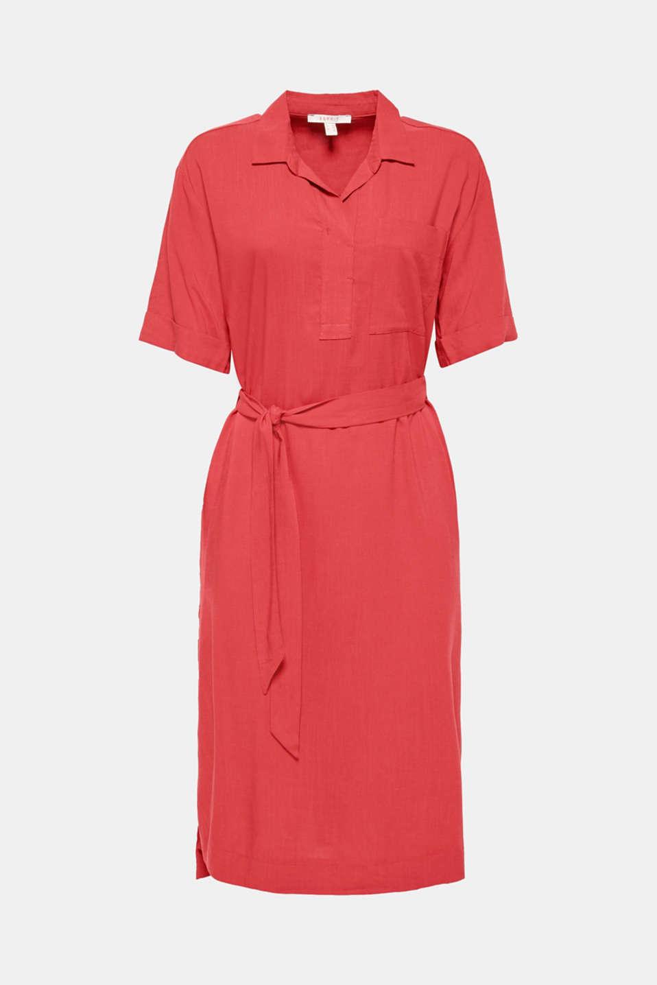 Dresses light woven, DARK RED, detail image number 5