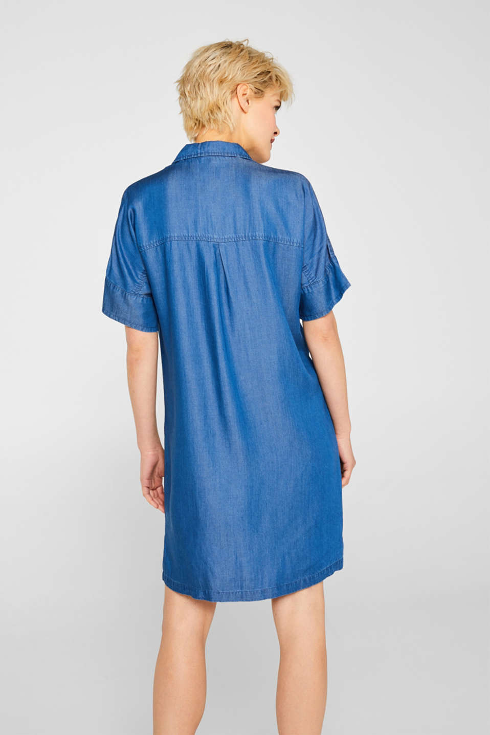 Shirt dress in 100% lyocell, BLUE MEDIUM WASH, detail image number 2