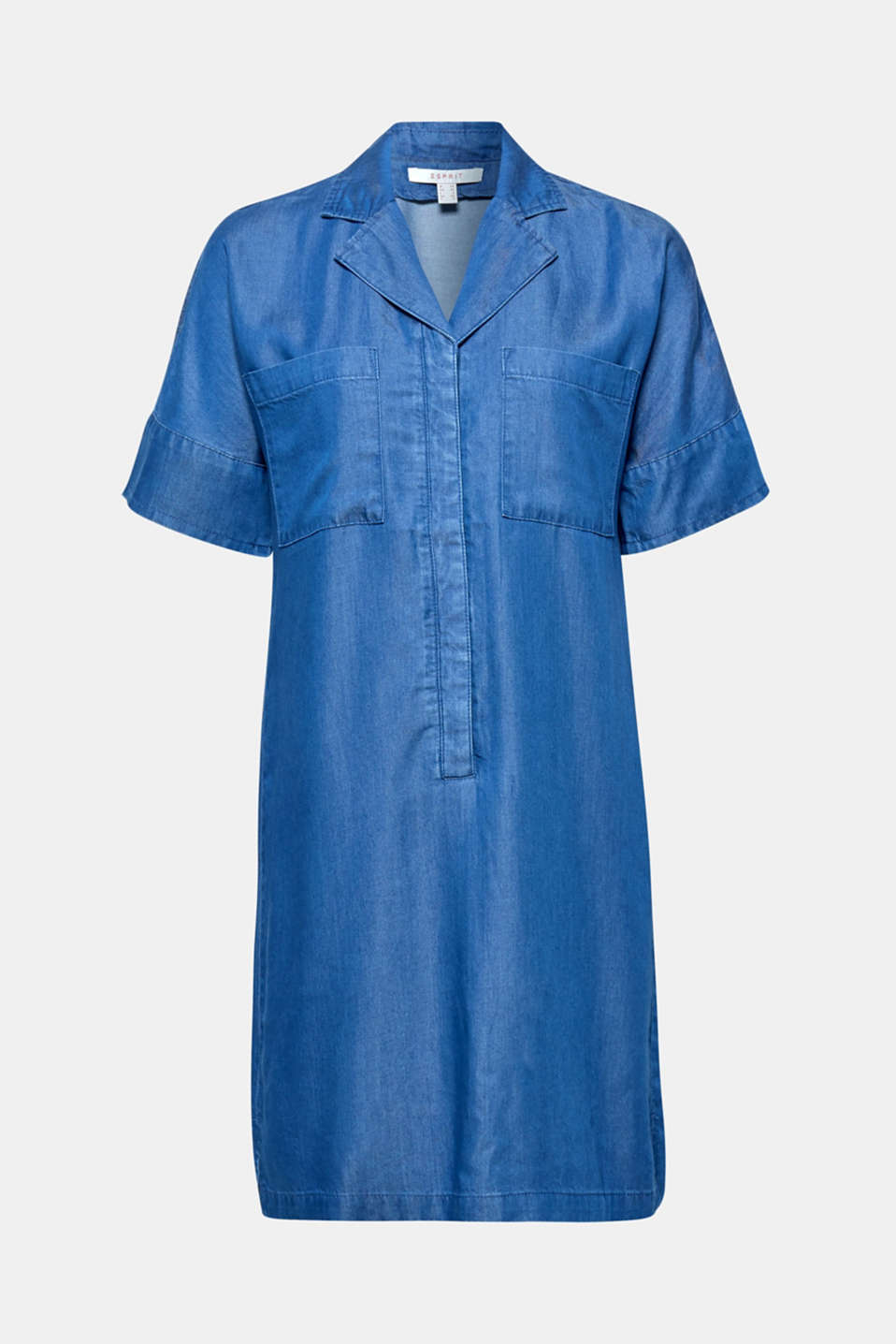 Shirt dress in 100% lyocell, BLUE MEDIUM WASH, detail image number 8