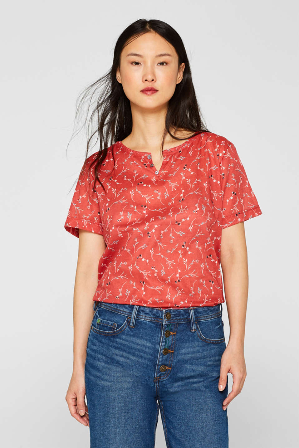 Blouses woven, RED, detail image number 0
