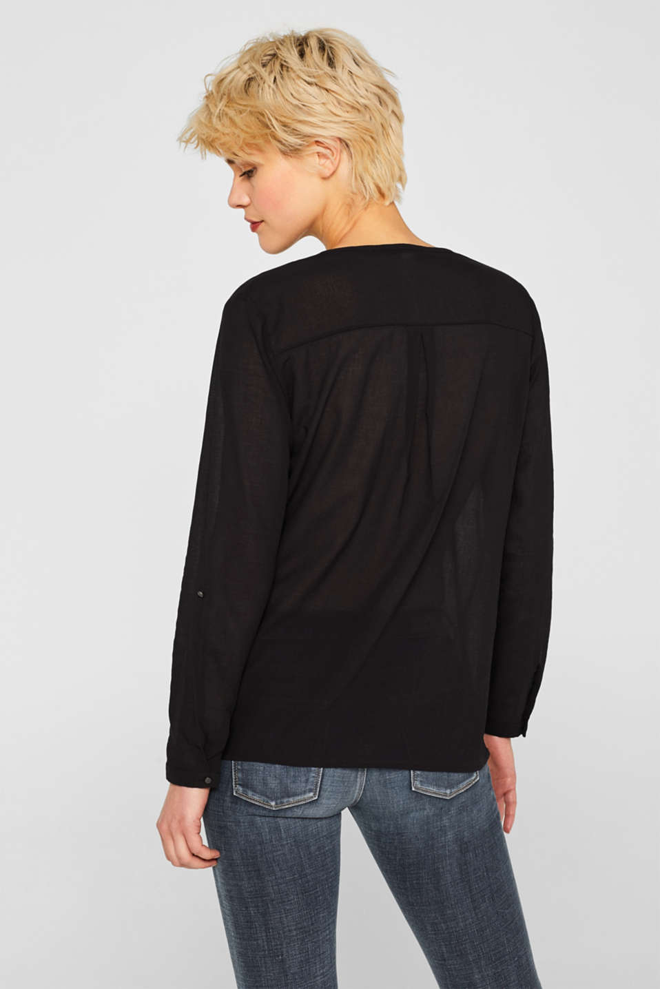 Blouses woven, BLACK, detail image number 3