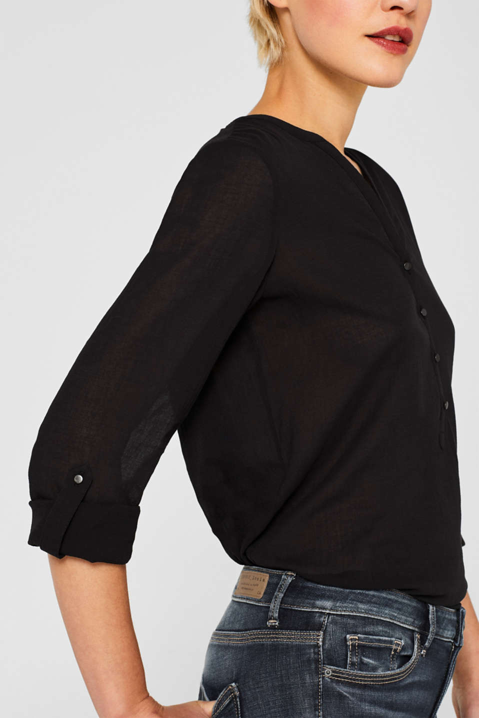 Blouses woven, BLACK, detail image number 2