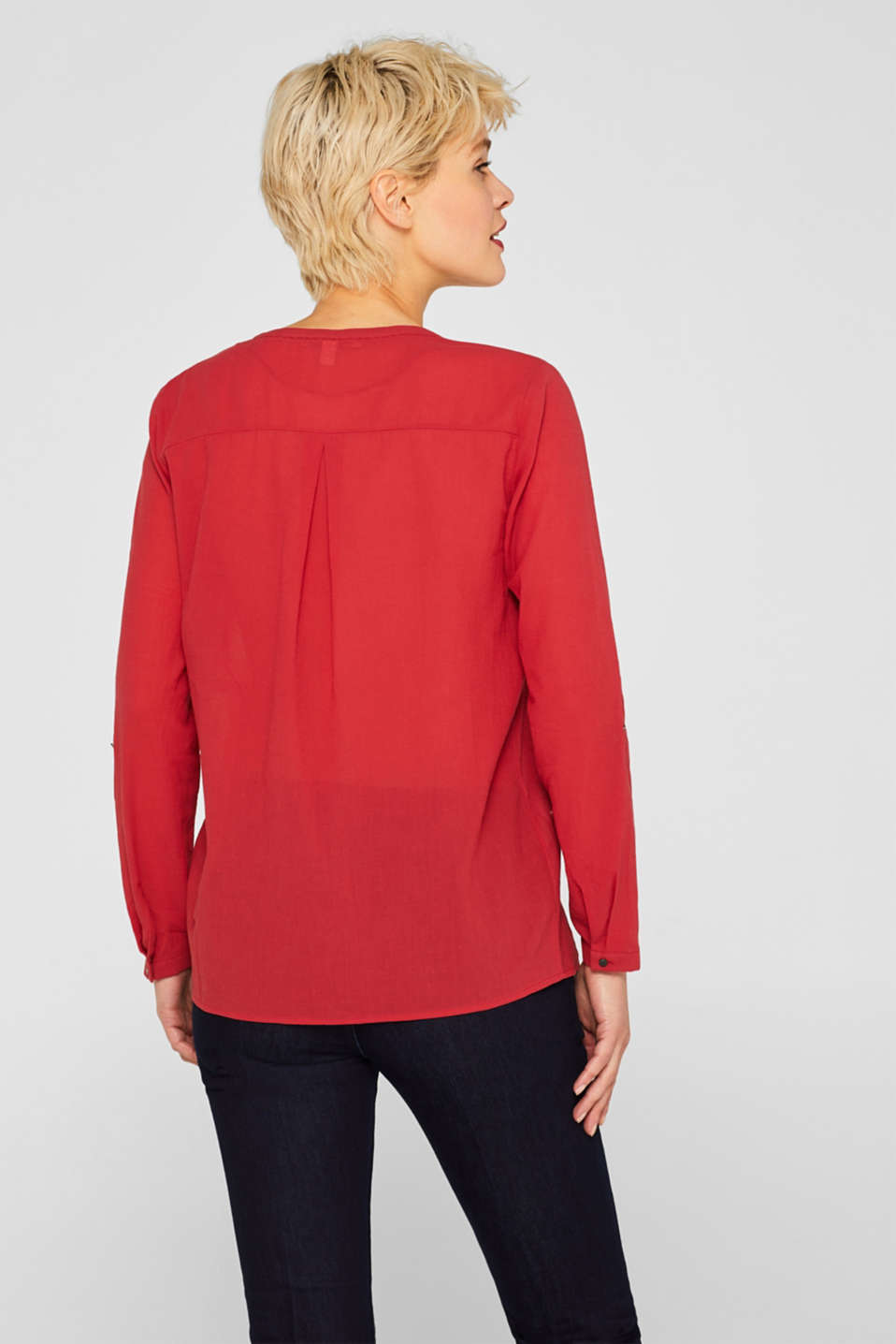 Blouses woven, DARK RED, detail image number 3