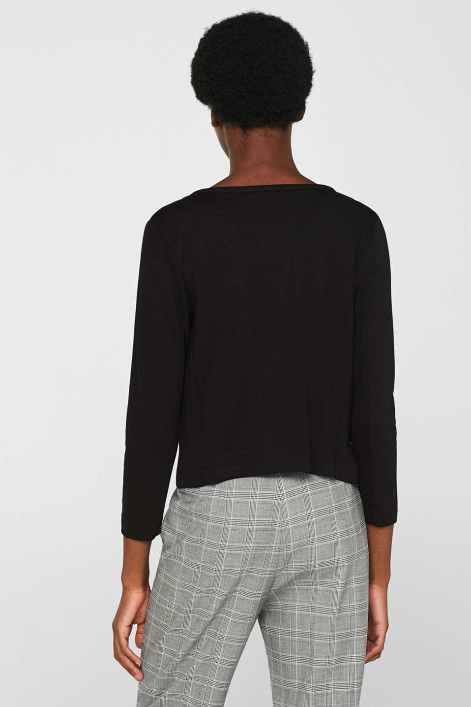 Jackets indoor knitted, BLACK, detail image number 3