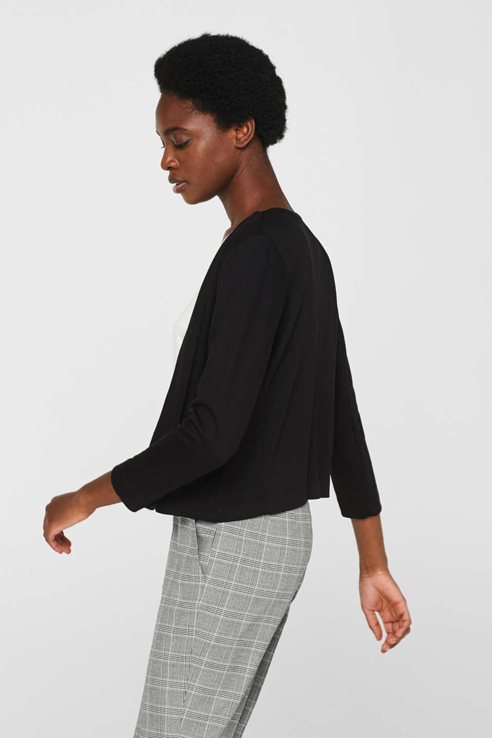 Jackets indoor knitted, BLACK, detail image number 5