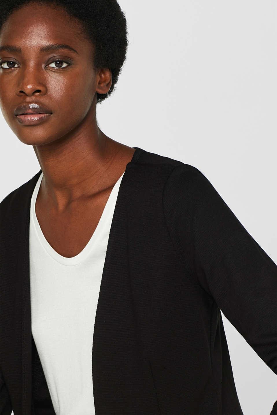 Jackets indoor knitted, BLACK, detail image number 7