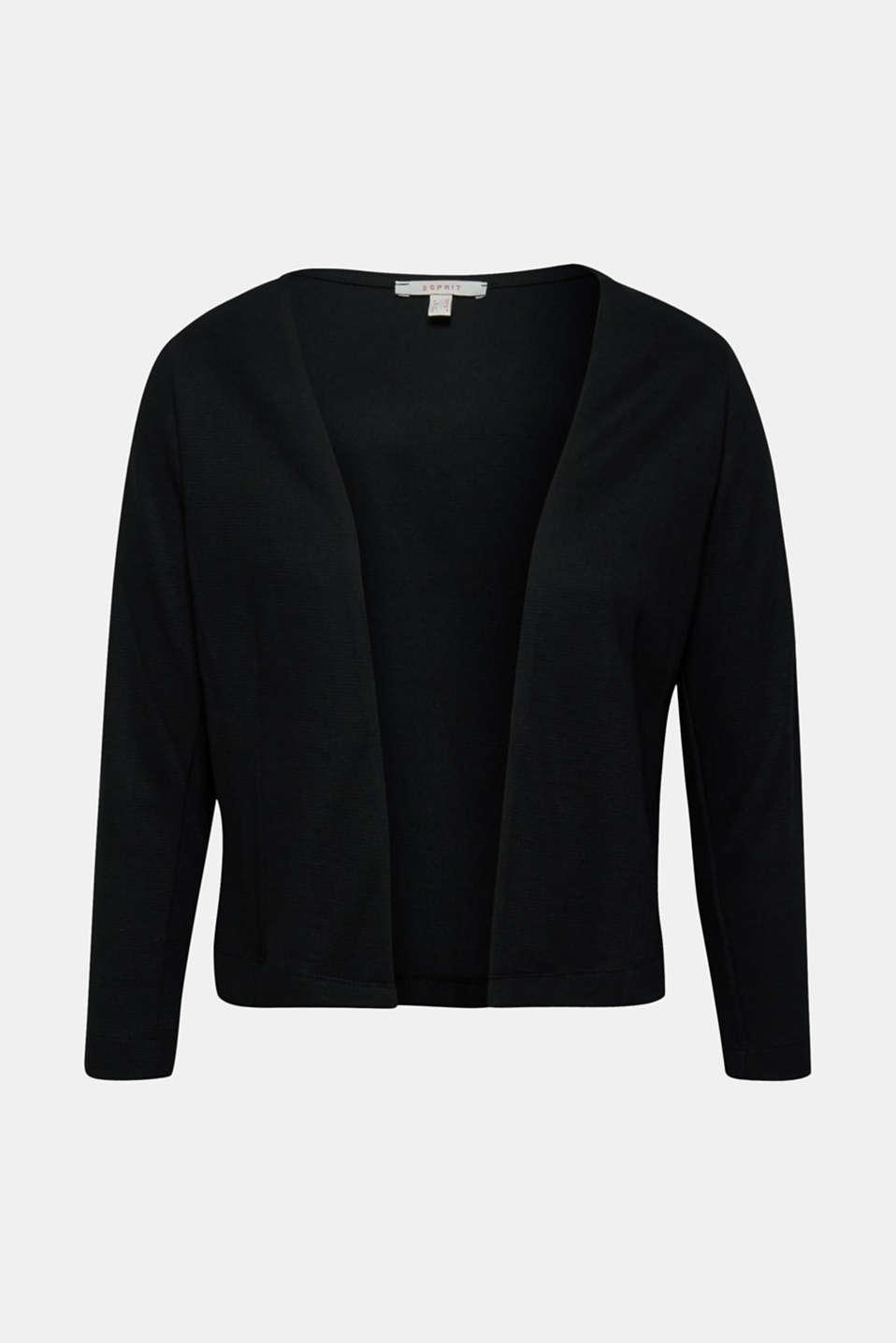Jackets indoor knitted, BLACK, detail image number 9
