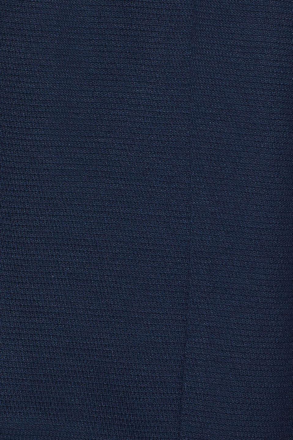 Bolero cardigan made of textured jersey, NAVY, detail image number 2