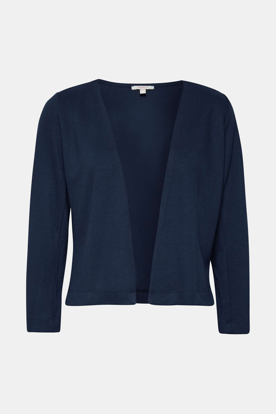 Bolero cardigan made of textured jersey, NAVY, detail image number 3