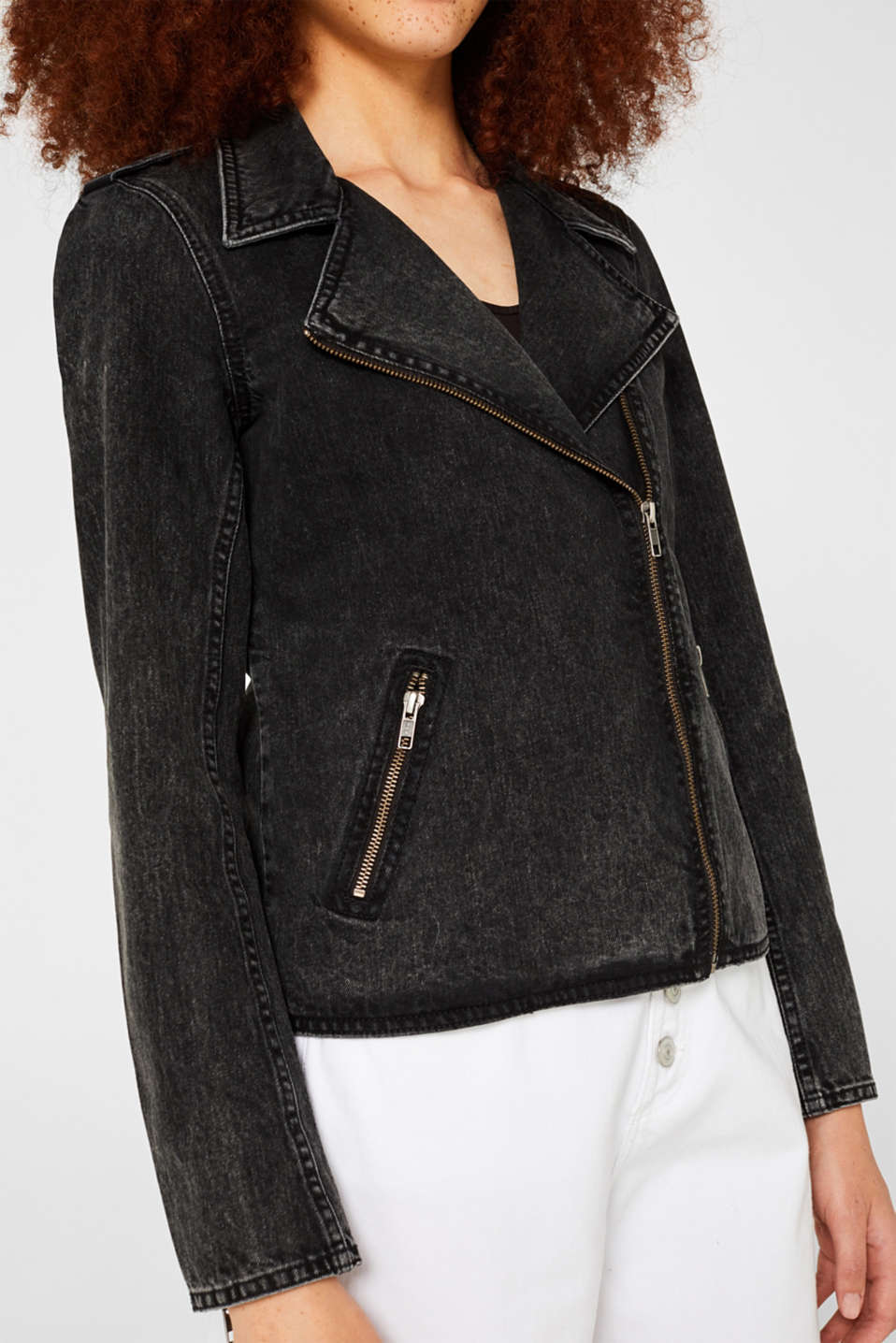 Jackets indoor denim, GREY DARK WASH, detail image number 2
