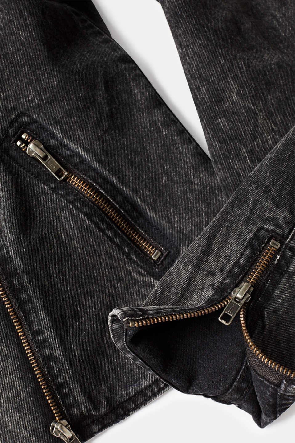 Jackets indoor denim, GREY DARK WASH, detail image number 4