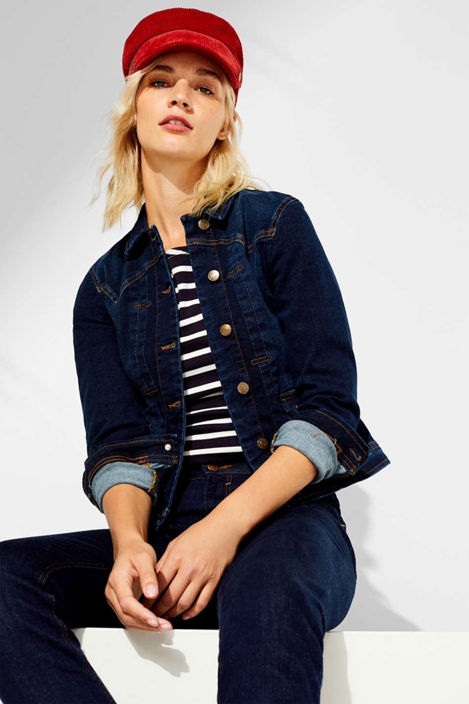 Jackets indoor denim, BLUE RINSE, detail image number 1
