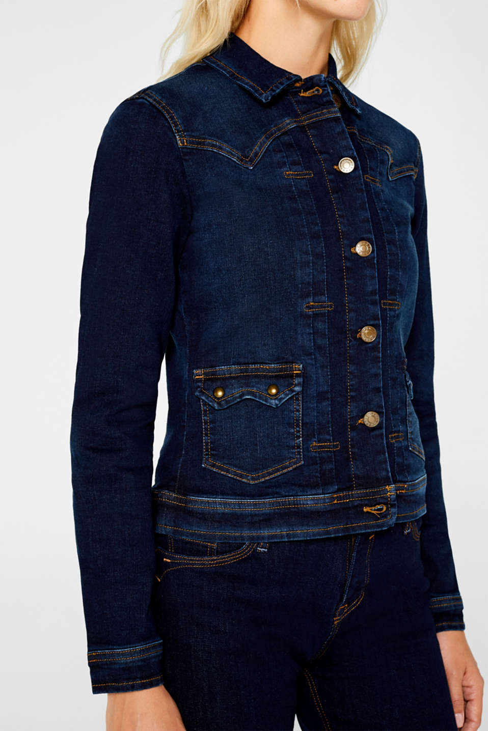 Jackets indoor denim, BLUE RINSE, detail image number 2
