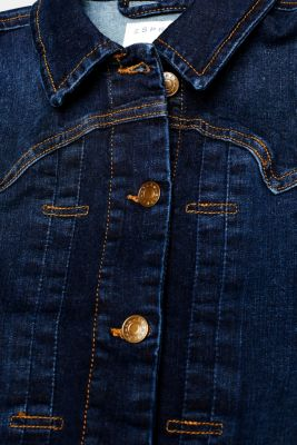 Super stretchy denim jacket with organic cotton