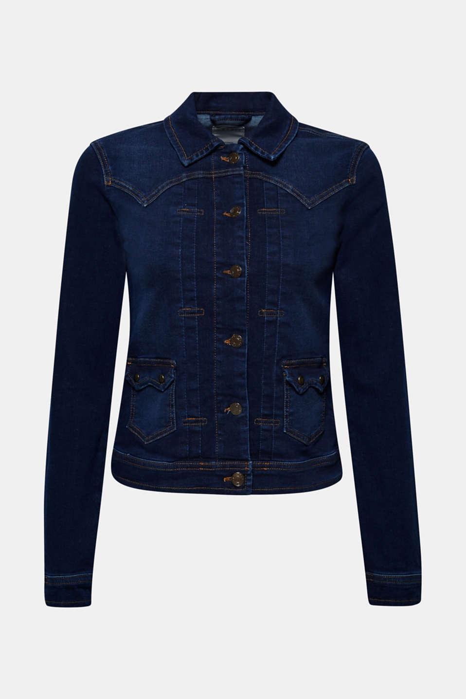 Jackets indoor denim, BLUE RINSE, detail image number 6