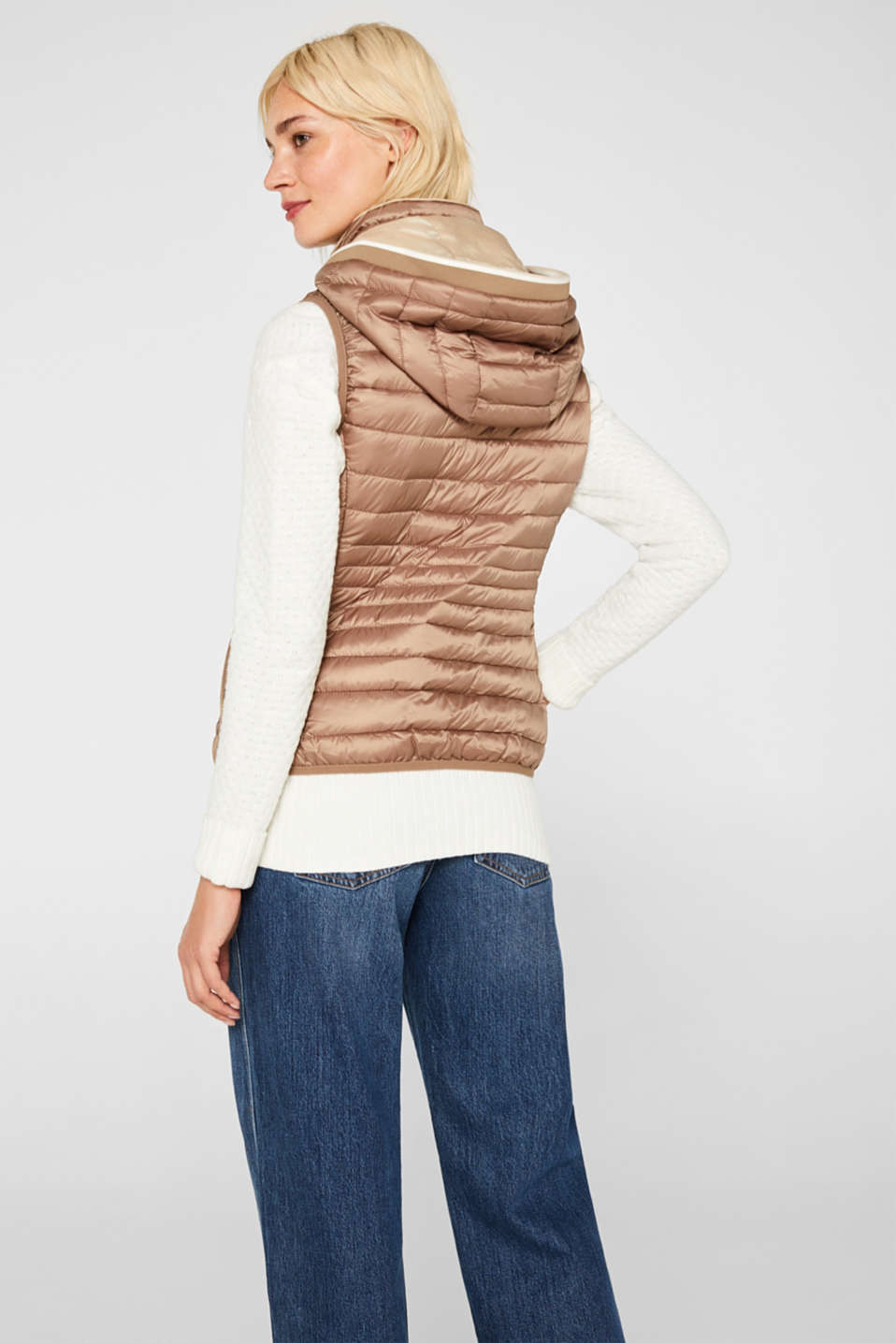 Quilted body warmer with 3M® Thinsulate filling, TAUPE, detail image number 3