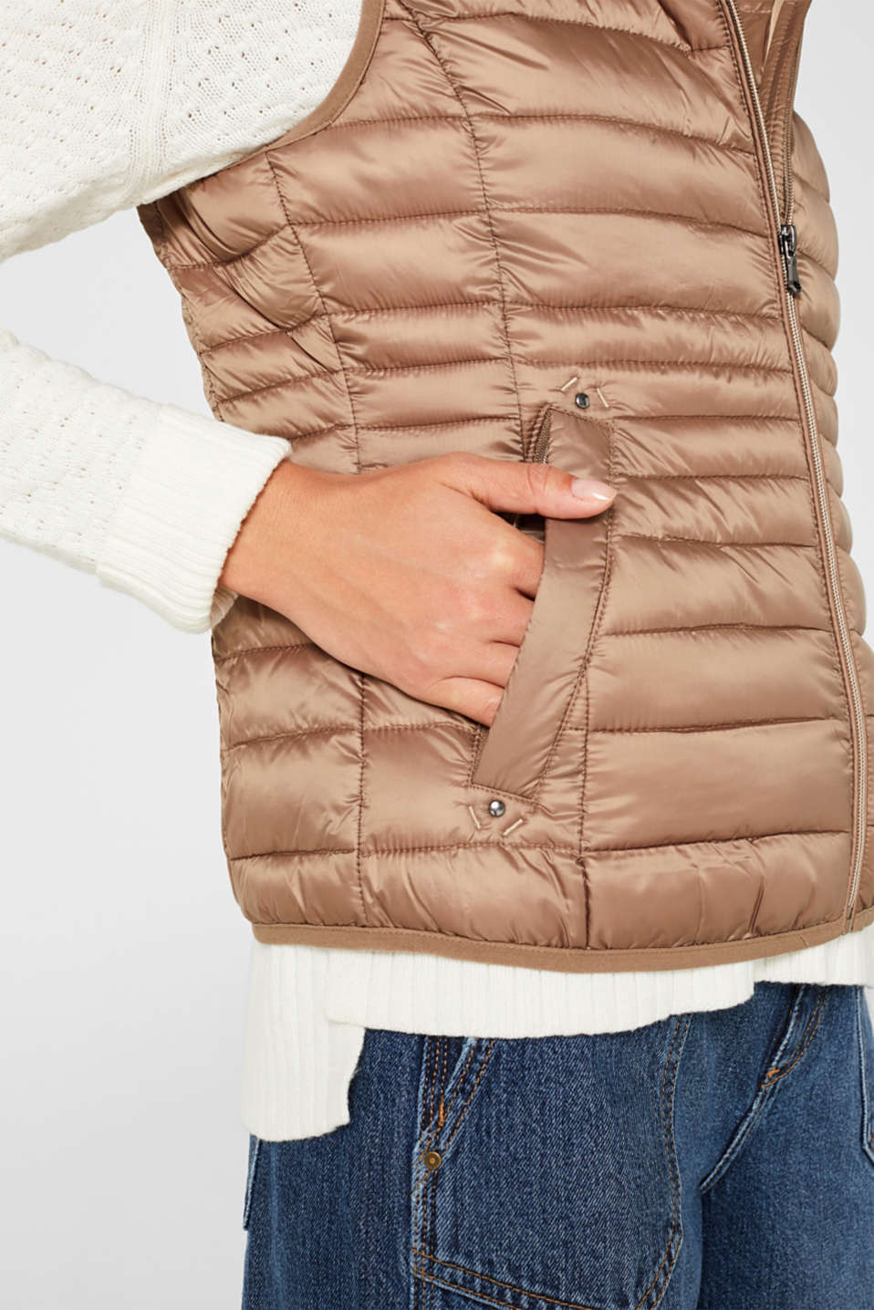 Quilted body warmer with 3M® Thinsulate filling, TAUPE, detail image number 2