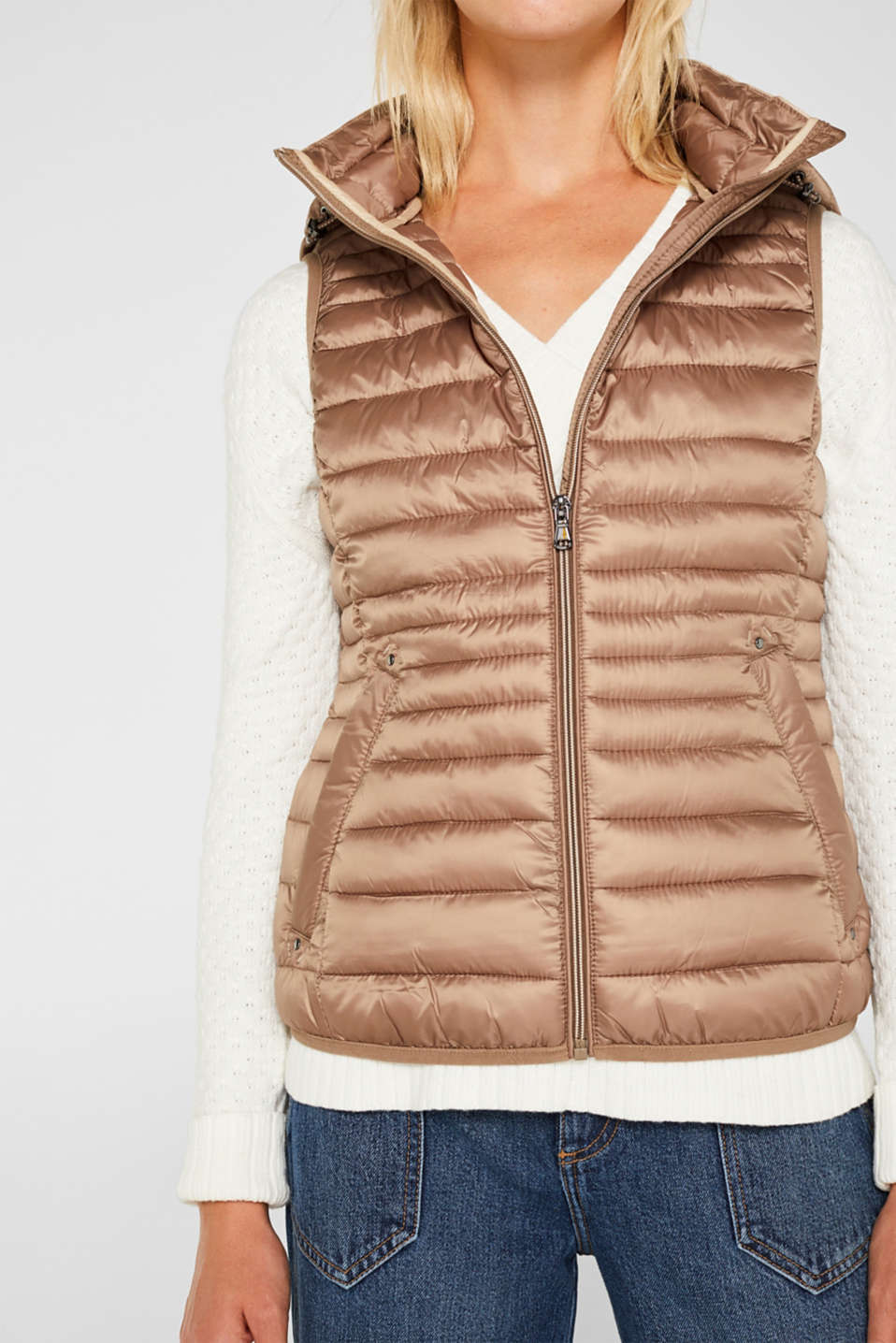 Quilted body warmer with 3M® Thinsulate filling, TAUPE, detail image number 6