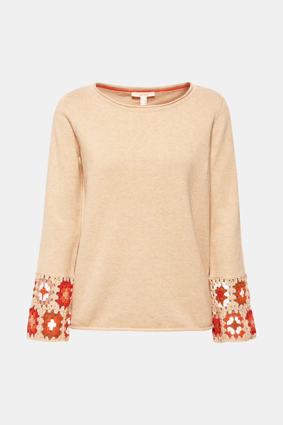 Sweaters, LIGHT BEIGE 5, detail image number 6