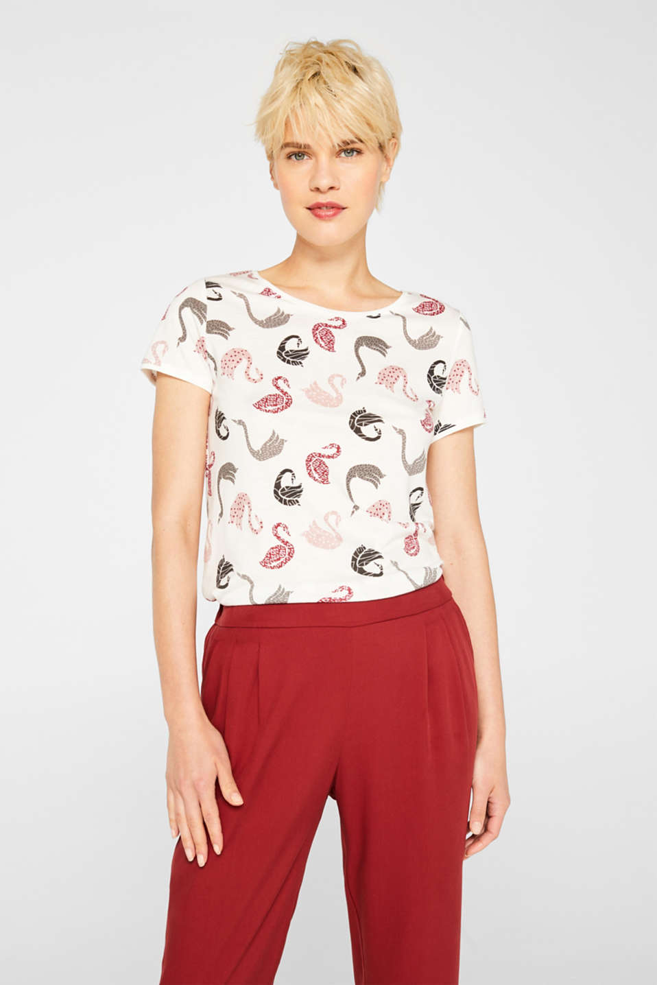 Esprit - T-Shirt mit Allover-Print