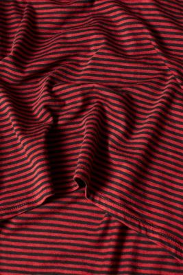 Striped T-shirt with a high-low hem