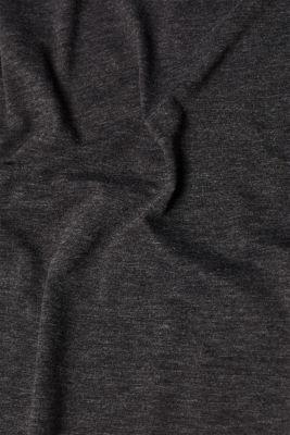 Melange top with organic cotton