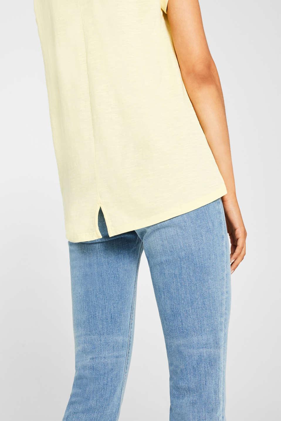 T-Shirts, PASTEL YELLOW, detail image number 2