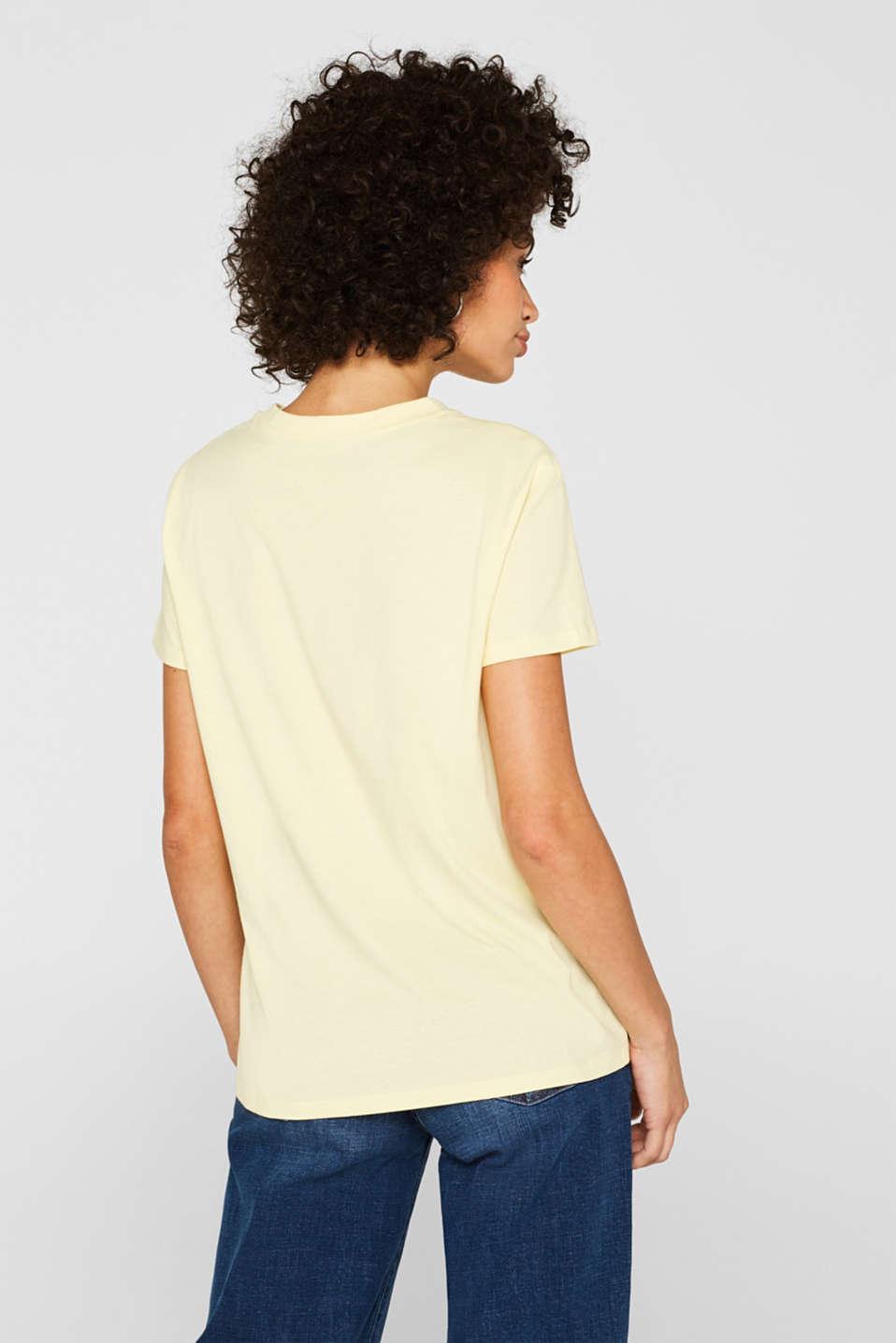 T-Shirts, PASTEL YELLOW, detail image number 3