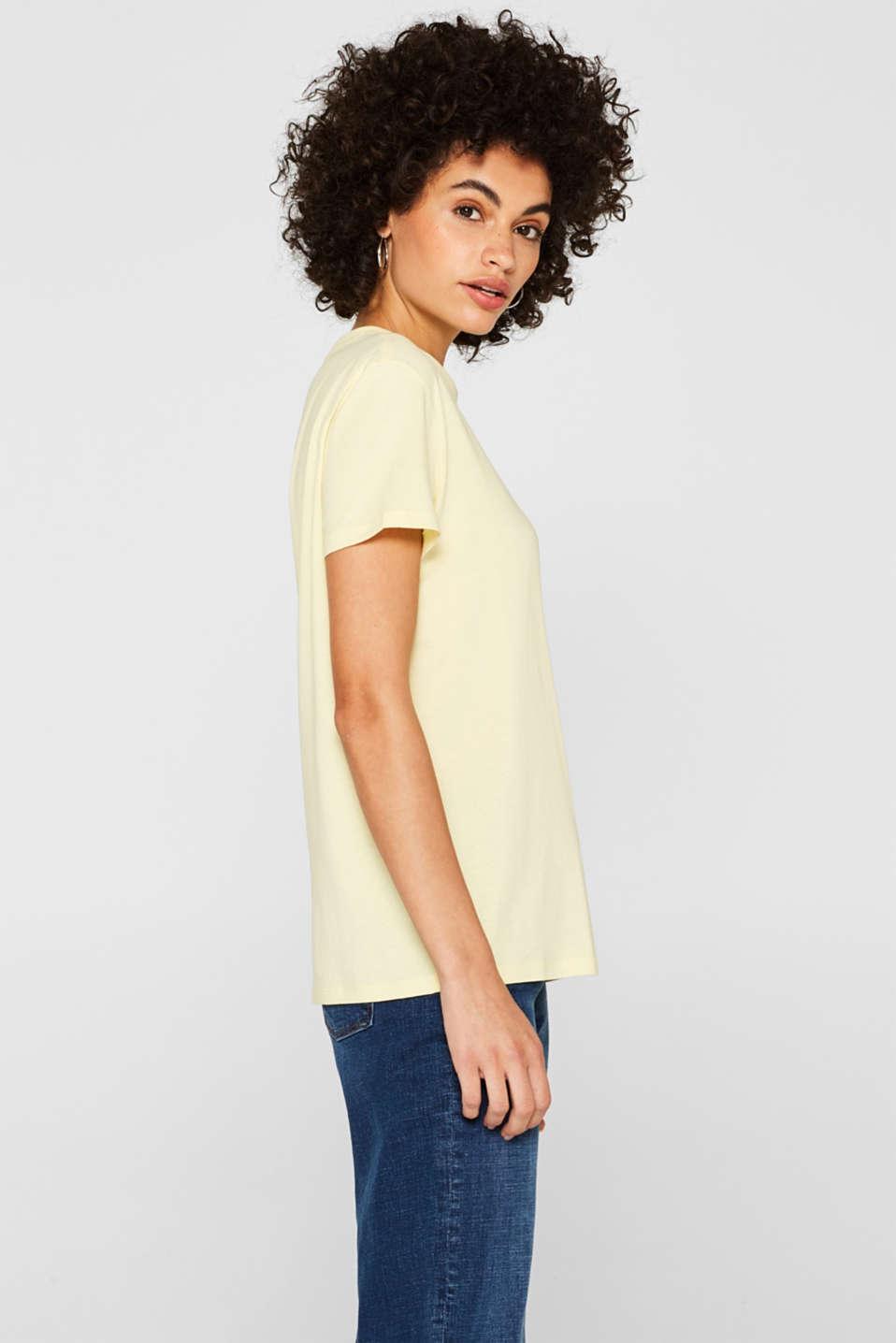 T-Shirts, PASTEL YELLOW, detail image number 5