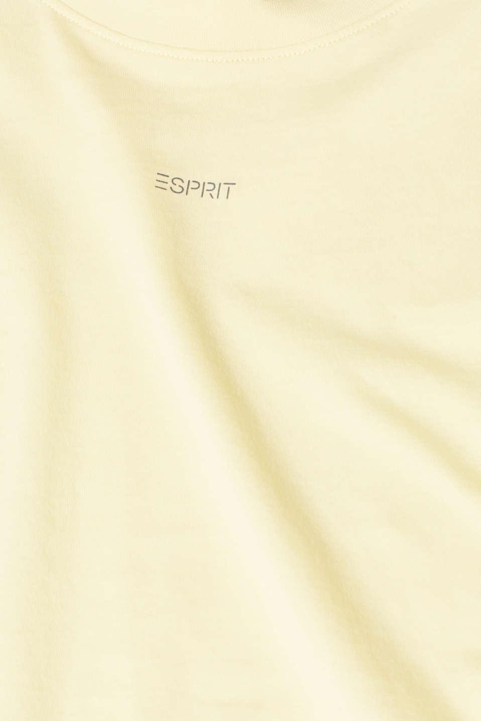 T-Shirts, PASTEL YELLOW, detail image number 4
