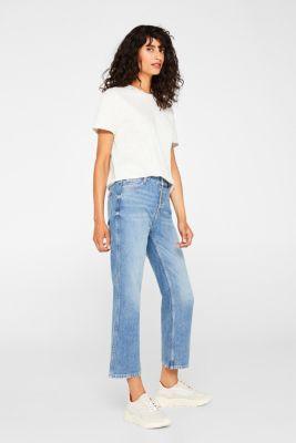 Melange T-shirt containing organic cotton, LIGHT GREY 5, detail